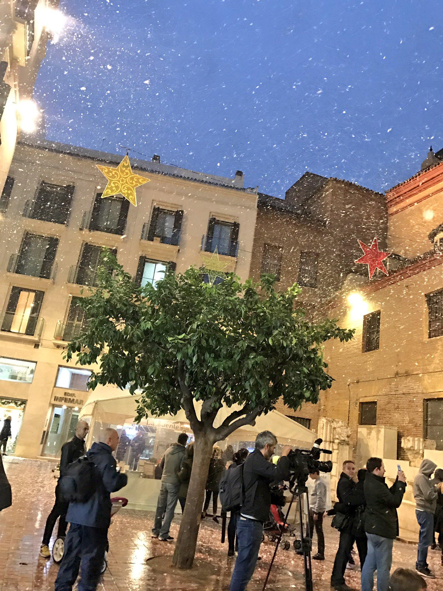 Así nevó ayer en Málaga